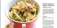 Sote de quinoa cu legume si jambon