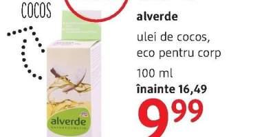 Alverde ulei de cocos, eco pentru corp