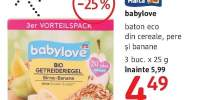 Baton eco din cereale Babylove