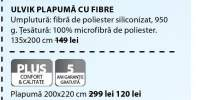 Plapumi cu fibre/termice