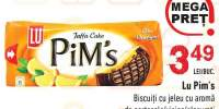 Biscuiti cu jeleu cu aroma de portocala/ visine glazurati Lu Pim's