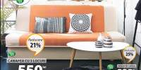 Mobila sufragerie: canapea extensibila Hejls si masuta cafea Lejre