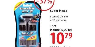 Aparat de ras +10 rezerve Super Max 3