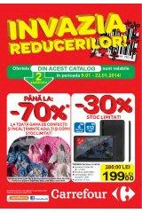 Catalog Carrefour 'Invazia reducerilor' 9-22 ianuarie 2014!