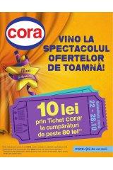 Catalog Cora hipermarket 22-28 octombrie 2014 'Vino la spectacolul ofertelor de toamna'