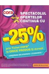 Catalog Cora hipermarket 29 octombrie - 4 noiembrie 2014 'Spectacolul ofertelor continua'
