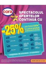 Catalog Cora hipermarket 29 octombrie - 4 noiembrie 2014 'Spectacolul ofertelor continua!'