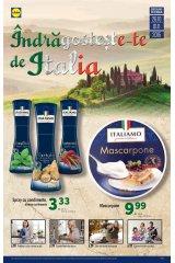 Catalog Lidl 26 octombrie - 1 noiembrie 2015 'Indragosteste-te de Italia'