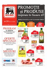 """Revista Mega Image supermarketuri 8-31 decembrie 2016 'Promotii si produse inspirate in fiecare zi"""""""