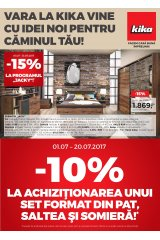 Catalog Kika casa si gradina 1-31 iulie 2017 'Vara la Kika vine cu idei noi pentru caminul tau'