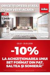 Catalog Kika mobilier si decoratiuni 3 - 31 ianuarie 2018 'Orice iti ofera viata, cu noi vei fi acasa!'