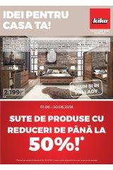 "Catalog kika mobilier 1-30 iunie 2018 ""Idei pentru casa ta"""