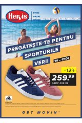 """Catalog Hervis sport 14-17 iunie 2018 """"Pregateste-te pentru sporturile verii"""""""