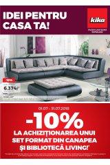 "Catalog kika mobilier 1-31 iulie 2018 ""Idei pentru casa ta"""