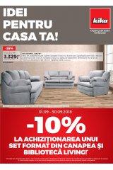 "Catalog kika mobilier 1-30 septembrie 2018 ""Idei pentru casa ta"""