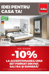 """Catalog kika mobilier 1-31 octombrie 2018 """"Idei pentru casa ta"""""""