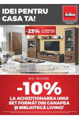 """Catalog kika mobilier 1-30 noiembrie 2018 """"Idei pentru casa ta"""""""