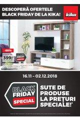 """Catalog kika mobilier 16 noiembrie - 2 decembrie 2018 """"Descopera ofertele Black Friday"""""""