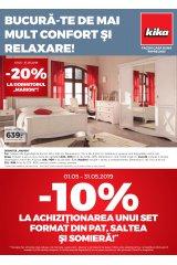 "Catalog kika mobilier 1-31 mai 2019 ""Bucura-te de mai mult confort si relaxare"""