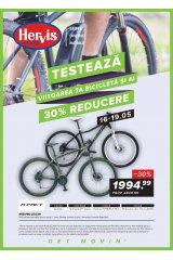 """Catalog Hervis Sports 13-19 mai 2019 """"Testeaza viitoarea ta bicicleta si ai 30% reducere"""""""
