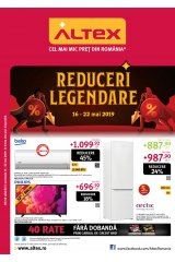 "Catalog Altex electronice si electrocasnice 16-22 mai 2019 ""Reduceri legendare"""