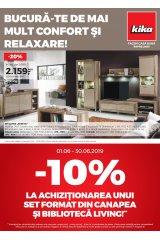 "Catalog kika mobilier 1-30 iunie 2019 ""Bucura-te de mai mult confort si relaxare"""