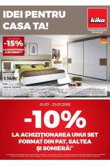 "Catalog Kika mobilier 1-31 iulie 2019 ""Idei pentru casa ta"""