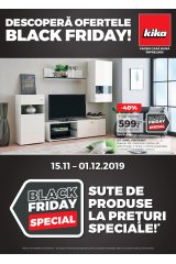 "Catalog kika 15 noiembrie - 1 decembrie 2019 ""Descopera ofertele de Black Friday"""