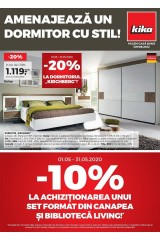 "Catalog kika 1-31 mai 2020 home&deco ""Amenajeaza un dormitor cu stil"""