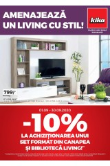 Catalog kika 1-30 septembrie 2020 home&deco 'Amenajeaza un living cu stil'