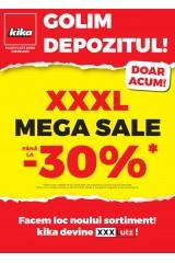 "Catalog kika 1-30 noiembrie 2020 ""Golim depozitul: 30% reducere XXXL Mega Sale"""